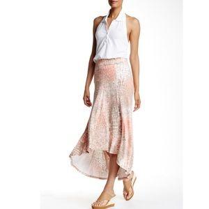 Tommy Bahama Sirena Tan Coral Snake Skirt L 12 14